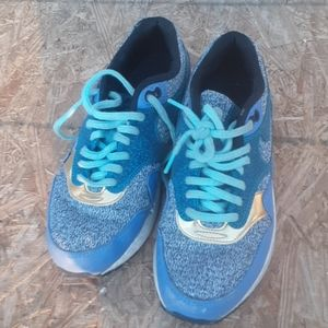 nike air max blue and gold